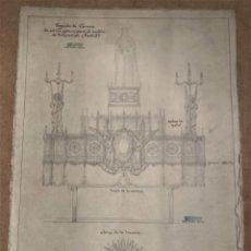 Arte: PROYECTO DE CARROZA PARA EL PUEBLO DE FUENCARRAL POR RAFAEL SENENT. Lote 267357529