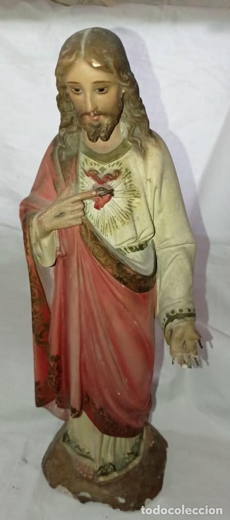SAGRADO CORAZON EN ESCAYOLA - OLOT (Arte - Arte Religioso - Escultura)