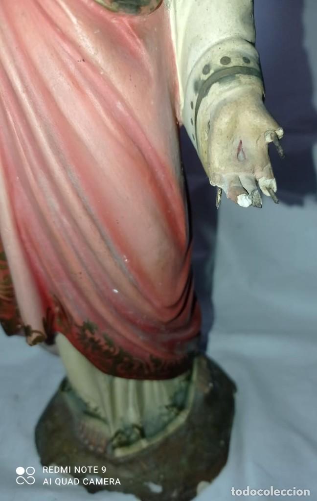 Arte: SAGRADO CORAZON EN ESCAYOLA - OLOT - Foto 10 - 267427209