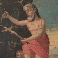 Art: EXCEPCIONAL SAN JERÓNIMO PENITENTE. OLEO SOBRE LIENZO PEGADO A TABLA. S. XVII. Lote 267623389
