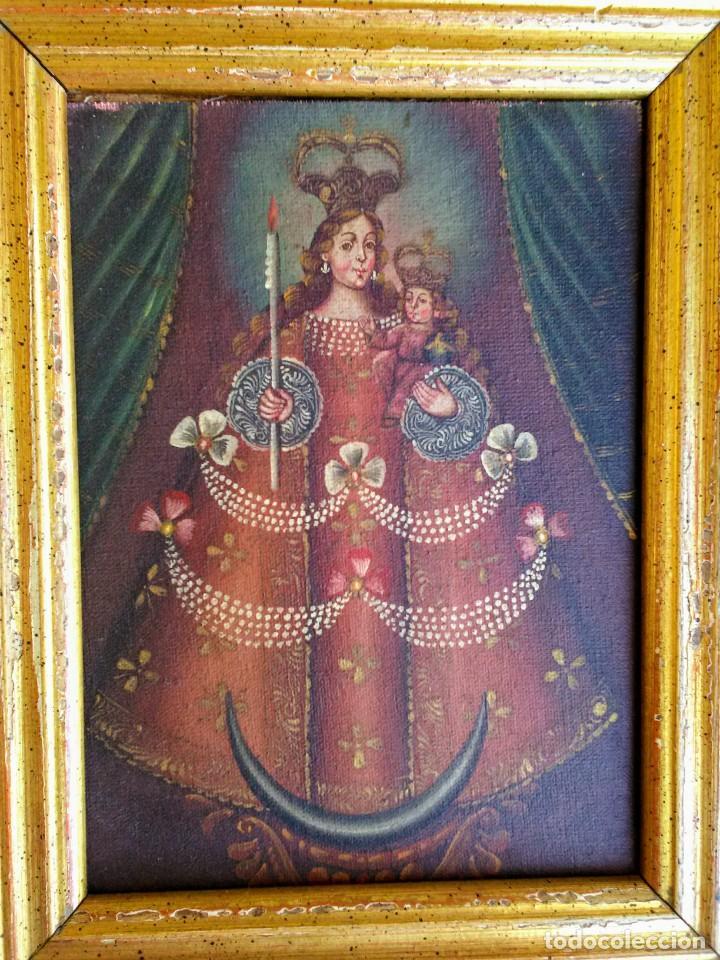 Arte: Marco con pintura cuzqueña antigua - Foto 3 - 267629629