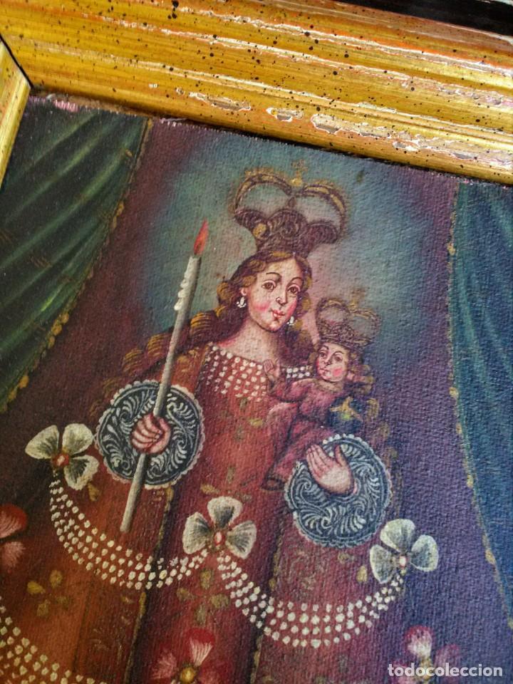Arte: Marco con pintura cuzqueña antigua - Foto 4 - 267629629
