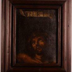 Arte: CABEZA DE CRISTO EN LA CRUZ, SXVII. ÓLEO SOBRE LIENZO. Lote 267638709