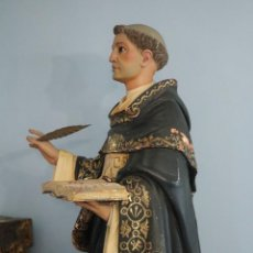 Arte: SANTO TOMÁS DE AQUINO. GRAN ESCULTURA DE MADERA TALLADA. SIGLOS XVIII-XIX. MIDE 120 CM.. Lote 267678404