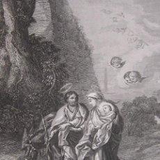 Arte: EMILE ROUARGUE. LA HUIDA EN EGIPTO. GRABADO. PARIS, 1858. Lote 267786554