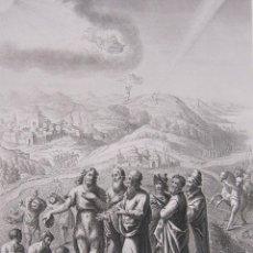 Arte: EMILE ROUARGUE. JUAN RECIBE A LOS SACERDOTES Y LEVITAS ENCIADOS DE JERUSALEN. GRABADO. PARIS, 1858. Lote 267787469