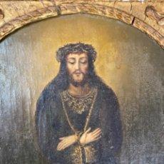 Arte: COFRADÍA CRISTO NAZARENO DE ZARAGOZA ,DONADO POR EL CONDE DE SOBRADIEL EN 1857,Hª PARTE TRASERA. Lote 267496649