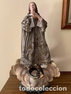 EXCEPCIONAL IMAGEN DE LA PURÍSIMA (INMACULADA). CAP I POTA. PRIMER CUARTO DEL S. XIX. (Arte - Arte Religioso - Escultura)