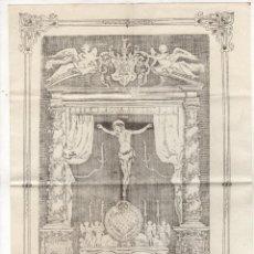 Art: GRABADO VERDADERA EFIGIE DEL SANTO XPTO. ANTIGUO DE LA CIUDAD DE CARTAGENA. AÑO 1691. Lote 268040439