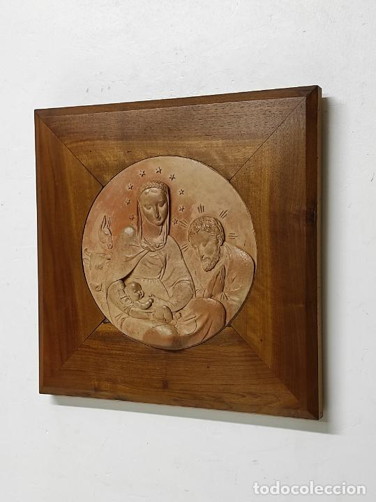 Arte: Sebastià Badia Cerdà (Caldes de Montbui 1916-2009) - Escultura Sagrada Familia - Terracota - 1941 - Foto 5 - 268262594
