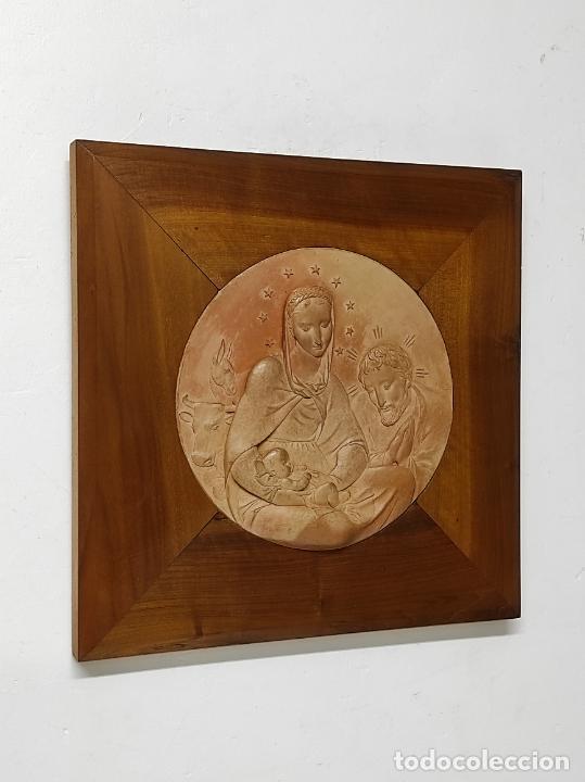 Arte: Sebastià Badia Cerdà (Caldes de Montbui 1916-2009) - Escultura Sagrada Familia - Terracota - 1941 - Foto 8 - 268262594