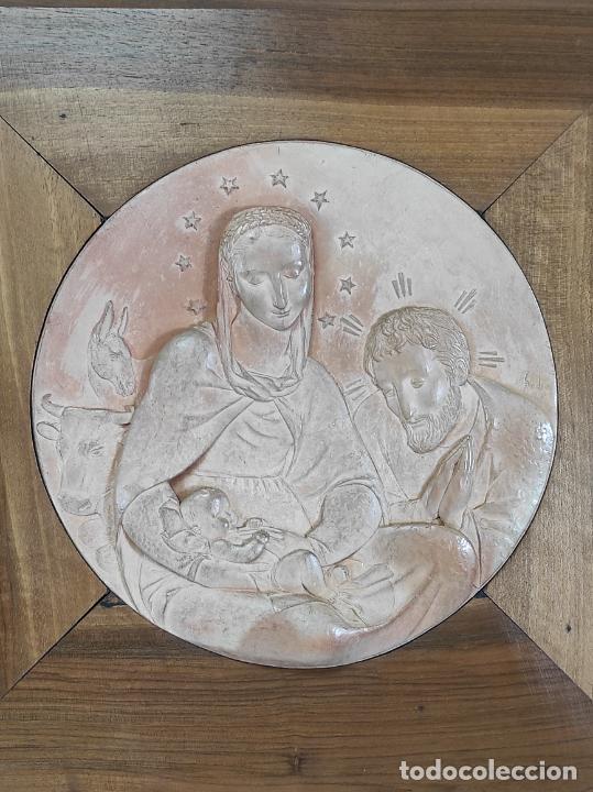 Arte: Sebastià Badia Cerdà (Caldes de Montbui 1916-2009) - Escultura Sagrada Familia - Terracota - 1941 - Foto 9 - 268262594