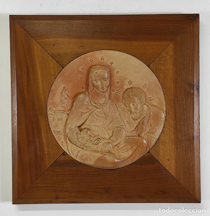 SEBASTIÀ BADIA CERDÀ (CALDES DE MONTBUI 1916-2009) - ESCULTURA SAGRADA FAMILIA - TERRACOTA - 1941 (Arte - Arte Religioso - Escultura)