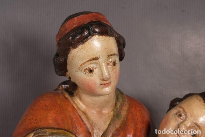 Arte: Virgen con niño en madera policromada siglo XVIII - Foto 2 - 268449879