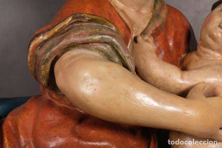 Arte: Virgen con niño en madera policromada siglo XVIII - Foto 4 - 268449879