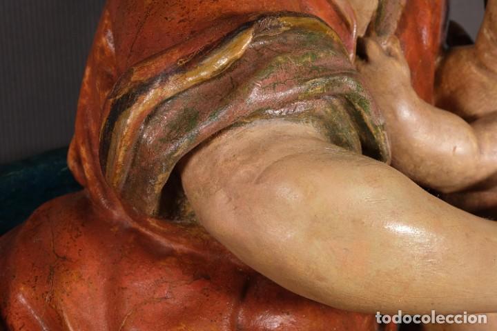 Arte: Virgen con niño en madera policromada siglo XVIII - Foto 9 - 268449879