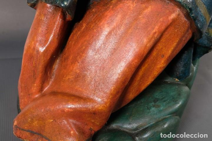 Arte: Virgen con niño en madera policromada siglo XVIII - Foto 14 - 268449879