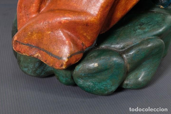 Arte: Virgen con niño en madera policromada siglo XVIII - Foto 15 - 268449879