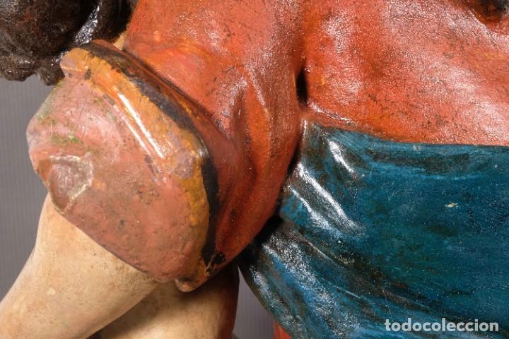 Arte: Virgen con niño en madera policromada siglo XVIII - Foto 18 - 268449879