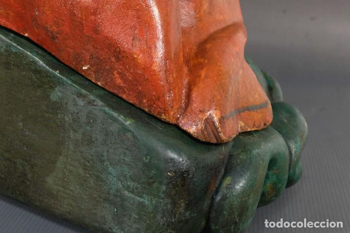 Arte: Virgen con niño en madera policromada siglo XVIII - Foto 26 - 268449879