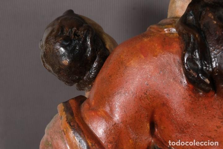 Arte: Virgen con niño en madera policromada siglo XVIII - Foto 27 - 268449879