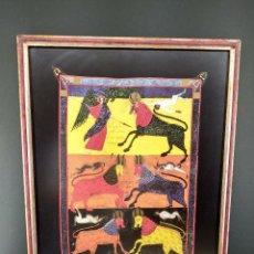 Arte: LAS LANGOSTAS PARECIAN CABALLOS , BEATO DE LIEBANA, COMENTARIOS AL APOCALIPSIS, MOLEIRO 2006, CUADRO. Lote 268587804