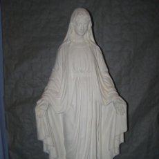 Arte: ANCIENNE STATUE EN PLÂTRE DE LA SAINTE VIERGE MARIE (SCULPTEUR PIERACCINI) HAUTEUR 87CM. Lote 268944259
