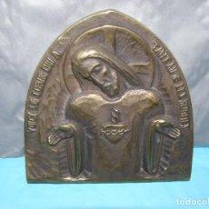 Arte: ANCIENNE PLAQUE SCULPTÉE EN BRONZE DU CHRIST. Lote 268957394