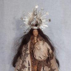 Arte: IMPRESIONANTE VIRGEN DE LOS DESAMPARADOS EN TERRACOTA S.XVIII - XIX ROPA BORDADA Y DE EL SIGLO XIX. Lote 269136638