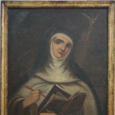Arte: SANTA TERESA DE JESÚS. Ó/L. ESCUELA ESPAÑOLA DEL SIGLO XVIII. MIDE 80 X 59 CM.. Lote 269167028