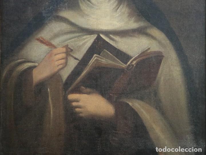 Arte: Santa Teresa de Jesús. Ó/L. Escuela Española del siglo XVIII. Mide 80 x 59 cm. - Foto 7 - 269167028