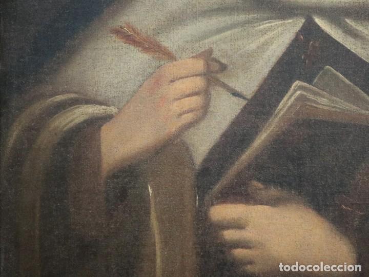 Arte: Santa Teresa de Jesús. Ó/L. Escuela Española del siglo XVIII. Mide 80 x 59 cm. - Foto 8 - 269167028