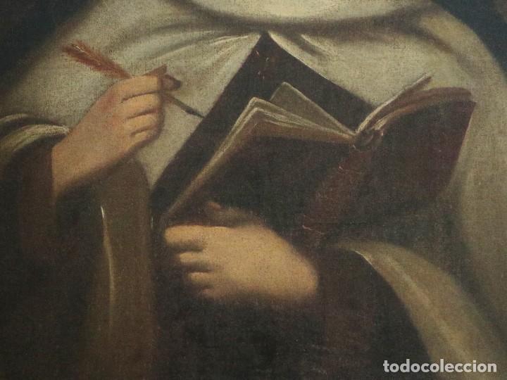 Arte: Santa Teresa de Jesús. Ó/L. Escuela Española del siglo XVIII. Mide 80 x 59 cm. - Foto 14 - 269167028