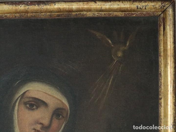 Arte: Santa Teresa de Jesús. Ó/L. Escuela Española del siglo XVIII. Mide 80 x 59 cm. - Foto 16 - 269167028