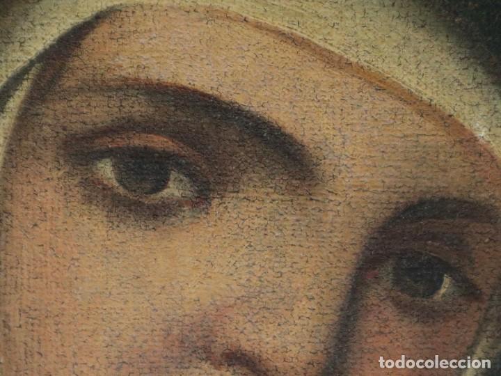 Arte: Santa Teresa de Jesús. Ó/L. Escuela Española del siglo XVIII. Mide 80 x 59 cm. - Foto 18 - 269167028