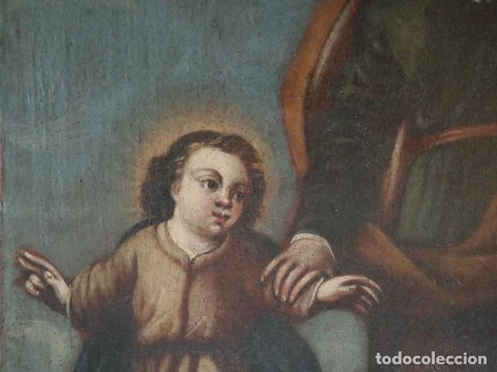 Arte: San José con el Niño Jesús. Ó/L siguiendo modelos de Murillo. Siglo XVIII. Mide 87 x 63 cm. - Foto 5 - 269317943