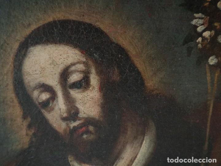 Arte: San José con el Niño Jesús. Ó/L siguiendo modelos de Murillo. Siglo XVIII. Mide 87 x 63 cm. - Foto 8 - 269317943