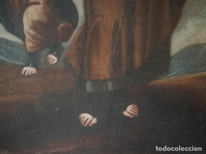 Arte: San José con el Niño Jesús. Ó/L siguiendo modelos de Murillo. Siglo XVIII. Mide 87 x 63 cm. - Foto 11 - 269317943