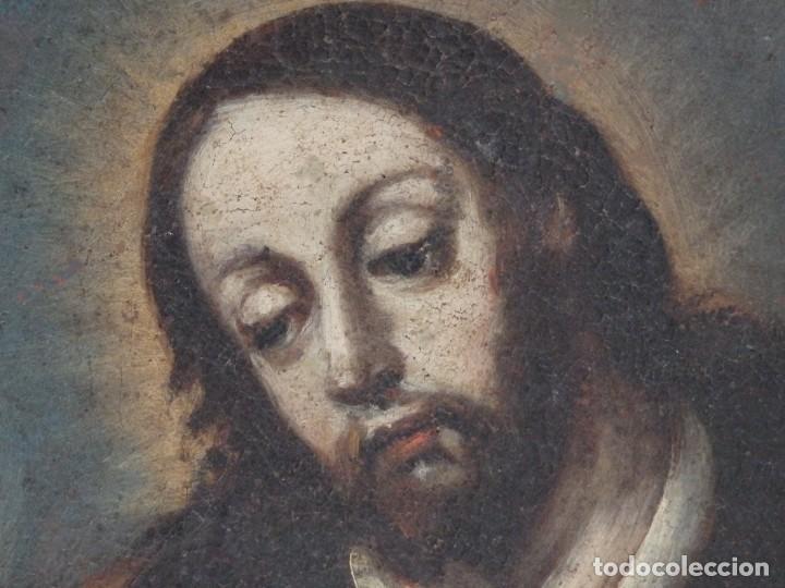 Arte: San José con el Niño Jesús. Ó/L siguiendo modelos de Murillo. Siglo XVIII. Mide 87 x 63 cm. - Foto 16 - 269317943