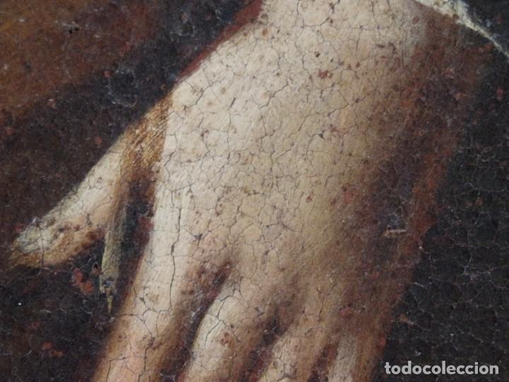 Arte: San José con el Niño Jesús. Ó/L siguiendo modelos de Murillo. Siglo XVIII. Mide 87 x 63 cm. - Foto 20 - 269317943