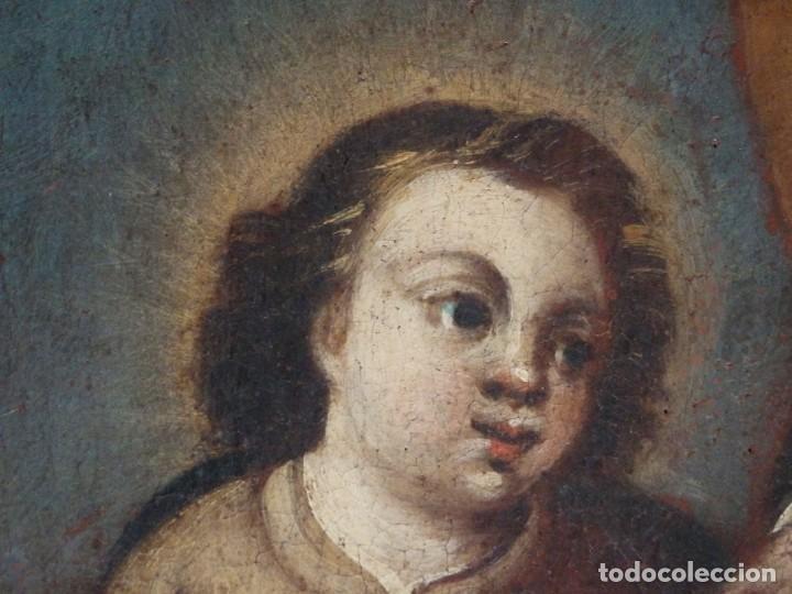 Arte: San José con el Niño Jesús. Ó/L siguiendo modelos de Murillo. Siglo XVIII. Mide 87 x 63 cm. - Foto 21 - 269317943