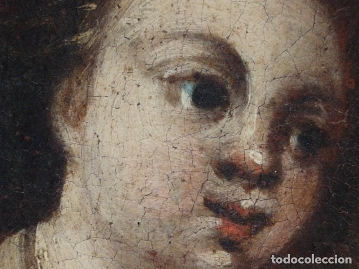 Arte: San José con el Niño Jesús. Ó/L siguiendo modelos de Murillo. Siglo XVIII. Mide 87 x 63 cm. - Foto 22 - 269317943