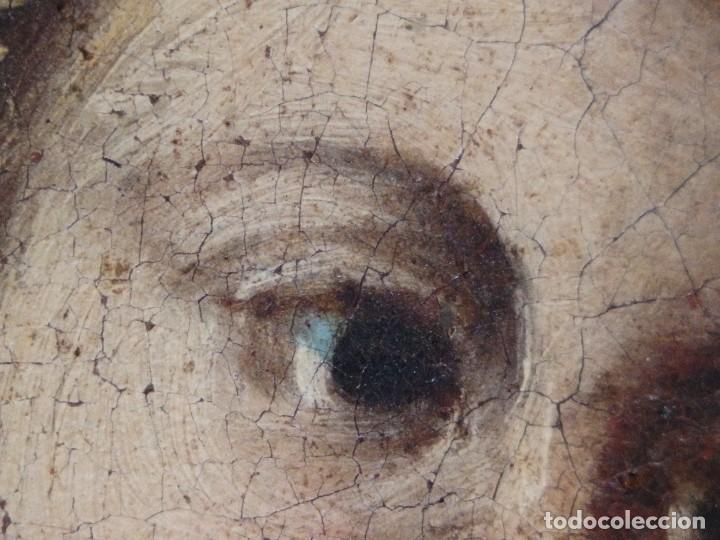 Arte: San José con el Niño Jesús. Ó/L siguiendo modelos de Murillo. Siglo XVIII. Mide 87 x 63 cm. - Foto 23 - 269317943