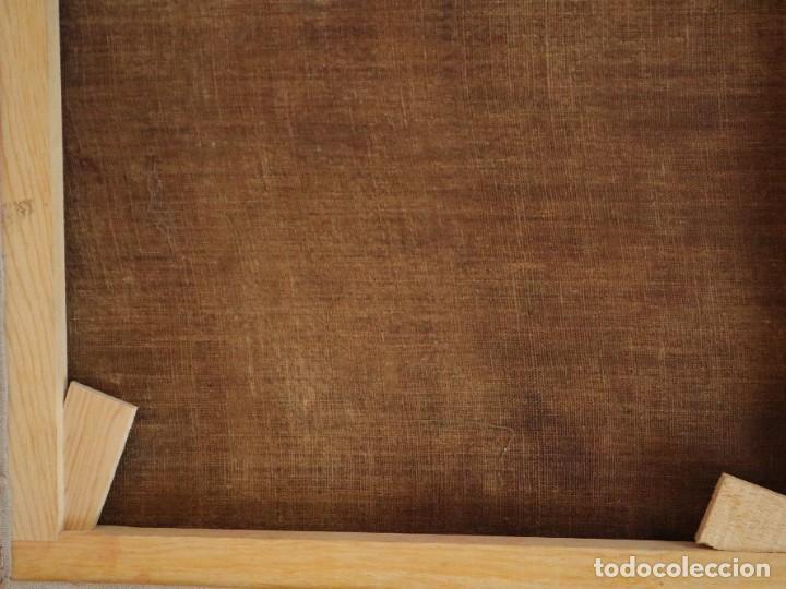Arte: San José con el Niño Jesús. Ó/L siguiendo modelos de Murillo. Siglo XVIII. Mide 87 x 63 cm. - Foto 28 - 269317943