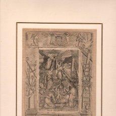 Arte: GRABADO RELIGIOSO ADVIENTO. ISABEL CONCIBIÓ A JUAN EN SU SENO. LUCAS CAP. I, V. 57. SIGLO XVIII. Lote 269354178