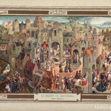 "Arte: 1927, LÁMINA ANTIGUA , ""LA PASIÓN DE JESUCRISTO"", HANS MEMLING, 31X23 CMS.. Lote 269620753"