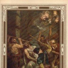 """Arte: 1927, LÁMINA ANTIGUA , """"LA CORONACIÓN DE ESPINAS"""", TIZIANO VECELLIO, 23X31 CMS.. Lote 269622078"""