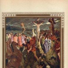 """Arte: 1927, LÁMINA ANTIGUA , """"LA CRUCIFIXIÓN DEL SEÑOR"""", WILHELM TRÜBNER, 23X31 CMS.. Lote 269628553"""