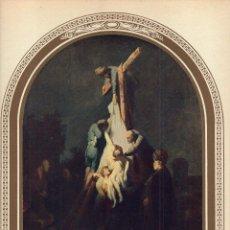 """Arte: 1927, LÁMINA ANTIGUA , """"EL DESCENDIMIENTO"""", REMBRANDT VAN RIJN, 23X31 CMS.. Lote 269629238"""
