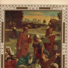 "Arte: 1927, LÁMINA ANTIGUA , ""CRISTO YACENTE"", JUAN BAUTISTA BENVENUTO, 23X31 CMS.. Lote 269629883"